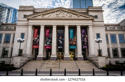 Nashville, TN - December 13, 2018 - Schermerhorn Symphony Center on a sunny December day. This place is the home to the Nashville Symphony.