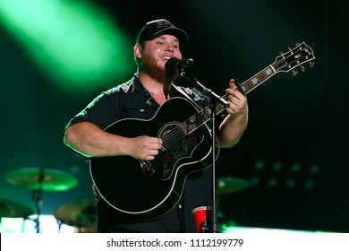 NASHVILLE, TN - June 9: Singer Luke Combs performs at the 2018 CMA Fest at Nissan Stadium on June 9, 2018 in Nashville, Tennessee.