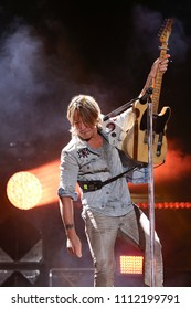 NASHVILLE, TN - June 9: Singer Keith Urban performs at the 2018 CMA Fest at Nissan Stadium on June 9, 2018 in Nashville, Tennessee.
