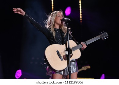 NASHVILLE, TN - June 9: Singer Kelsea Ballerini performs at the 2018 CMA Fest at Nissan Stadium on June 9, 2018 in Nashville, Tennessee.