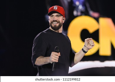 NASHVILLE, TN - June 9: Singer Sam Hunt performs at the 2018 CMA Fest at Nissan Stadium on June 9, 2018 in Nashville, Tennessee.