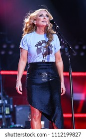 NASHVILLE, TN - June 9: Singer Lee Ann Womack performs at the 2018 CMA Fest at Nissan Stadium on June 9, 2018 in Nashville, Tennessee.
