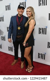 NASHVILLE, TN - NOV 13: Granger Smith (L) and wife Amber attend the BMI Country Awards 2018 at BMI Nashville on November 13, 2018 in Nashville, Tennessee.