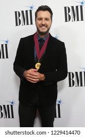 NASHVILLE, TN - NOV 13: Luke Bryan attends the BMI Country Awards 2018 at BMI Nashville on November 13, 2018 in Nashville, Tennessee.