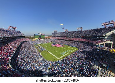 Nashville, TN - Oct 26, 2014:  The Houston Texans take to the field against the Tennessee Titans at LP Field in Nashville, TN. Houston beat the Titans 30-16.