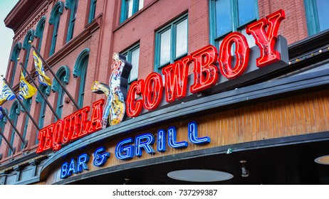 Nashville, TN - Sep. 19, 2007 - Tequila Cowboy - a 'honky tonk' bar & grill restaurant offering southern dining and revved up nightlife.