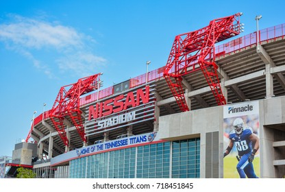 Nashville, TN - Sep. 19, 2017: NIssan Stadium - It is the home of the Tennessee Titans NFL Football Team.
