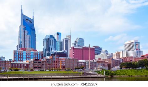 Nashville, TN - Sep. 19, 2017: Nashville, TN city skyline.