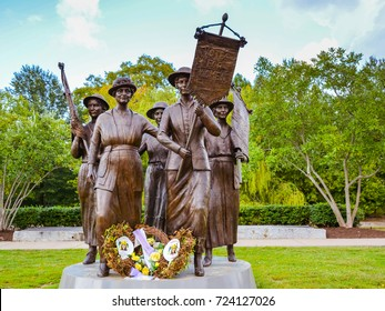 Nashville, TN - Sep. 19, 2017: Tennessee Woman Suffrage Monument in Centennial Park, Nashville, TN. Commemorates Nashville's largest women's suffrage rally.