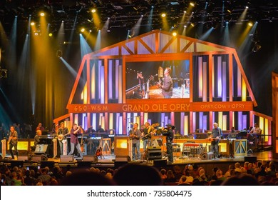 Nashville, TN - Sep. 19, 2017: A night of country music stage concert at the Grand Ole Opry in Nashville, Tennessee.