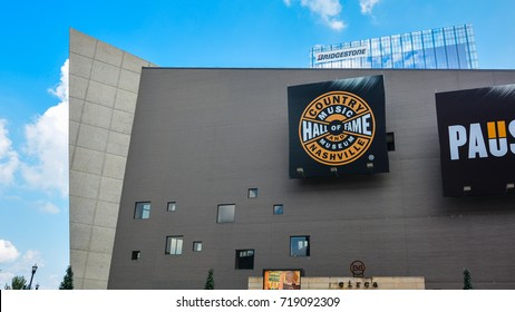Nashville, TN - Sep. 20, 2017: Country Music Hall of Fame and Museum - collects, preserves, and interprets the evolving history and traditions of country music.