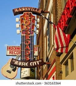 Nashville, TN USA - 06/01/2014 - The District - Music City Downtown in Vintage - Nashville, TN