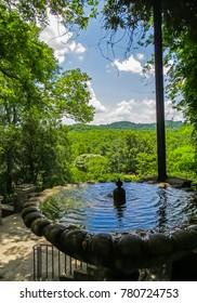 Nashville, TN USA - 06/17/2014 - Nashville, TN USA - Cheekwood Park Mansion Fountain