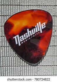 Nashville, TN USA - 06/17/2014 - Nashville, TN USA - Nashville Music City Guitar Pick Sign