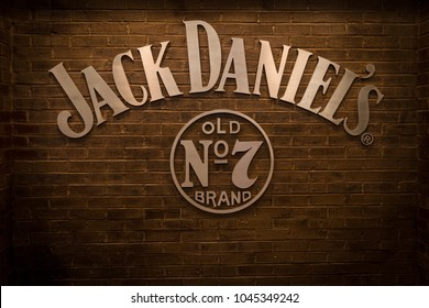 NASHVILLE, TN, USA - February 27, 2018: The Jack Daniel's Restaurant is located inside the Gaylord Opryland Resort & Convention Center, featuring southern dining by the famous whiskey maker.