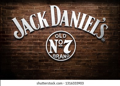 NASHVILLE, TN, USA - February 28, 2018: The Jack Daniel's Restaurant is located inside the Gaylord Opryland Resort & Convention Center, featuring southern dining by the famous whiskey maker.