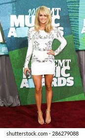 NASHVILLE, TN-JUN 10: Singer Carrie Underwood attends the 2015 CMT Music Awards at the Bridgestone Arena on June 10, 2015 in Nashville, Tennessee.