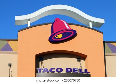NASHVILLE, TN-JUNE, 2015:  Exterior of a new Taco Bell.  Taco Bell is an international fast food chain with over 6500 locations.