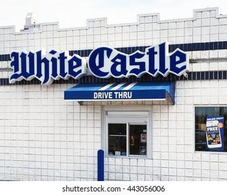 NASHVILLE, TN-JUNE 24, 2016:  Drive-thru window at a White Castle restaurant.