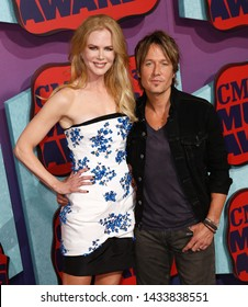 NASHVILLE, TN-JUNE 4: Country music recording artist Keith Urban and wife Nicole Kidman attend the 2014 CMT Music Awards at the Bridgestone Arena on June 4, 2014 in Nashville, Tennessee