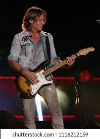 NASHVILLE, TN-JUNE 9: Keith Urban performs at CMA Fest Night 3 at Nissan Stadium on June 9, 2018 in Nashville, Tennessee.