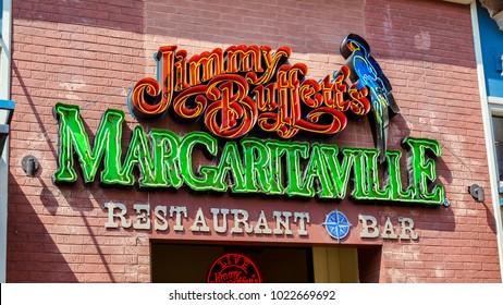 Nashville, TN/USA - Sep. 19, 2017: Jimmy Buffet's Margaritaville restaurant and bar in Nashville, TN.