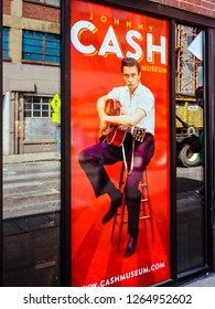 Nashville, TN/USA - Sep. 19, 2017: Johnny Cash Museum, Nashville, TN.