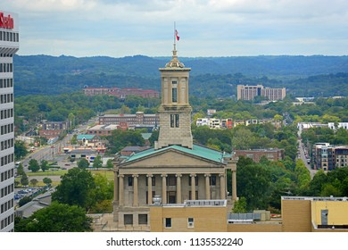 NASHVILLE,TN,USA - SEP 27, 2015: Tennessee State Capitol, Nashville, Tennessee, USA. This building, built with Greek Revival style in 1845, is now the home of Tennessee legislature