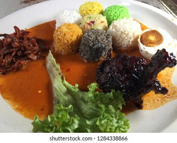 Nasi 7 benua is a Malaysia rice which represent 7 continent in the world