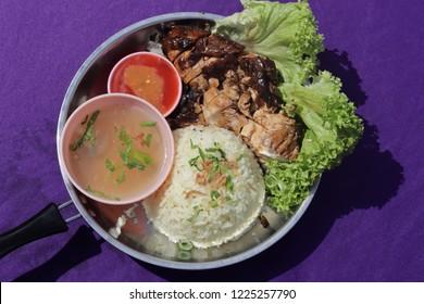 Nasi Ayam, Malaysian Food, Asian Food, Chicken Rice, Soup, Delicious Food, Tasty.
