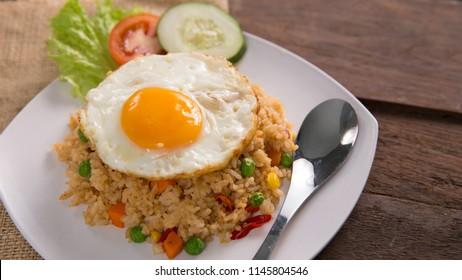 nasi goreng or fried rice. traditional indonesian or melayu culinary