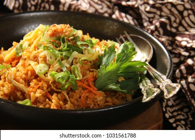 Nasi Goreng Jawa. The popular Indonesian rice dish of fried rice; cooked Javanese style with sweet soy sauce.