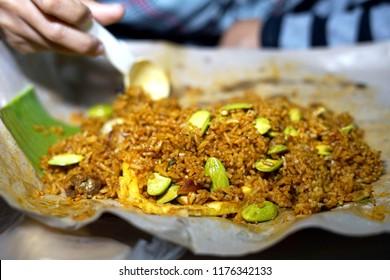 Nasi Goreng Petai, Fried rice served with Bitter Bean