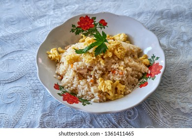 Nasi goreng telor or Fried rice with egg. javanesse style.