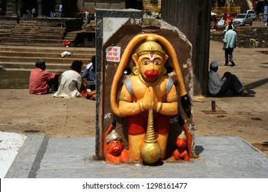 Nasik, maharashtra,India Aug.25th 2016- Idol of Lord Hanuman is the son of Vayu, the Hindu god of Wind. He was a devotee of Lord Rama. Hanuman is best known from the Indian epic Ramayana.
