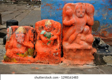 Nasik, Maharashtra,India Aug.25th 2016- Lord Ganesh Idol of Lord Hanuman is the son of Vayu, the Hindu god of Wind. He was a devotee of Lord Rama. Hanuman is best known from the Indian epic Ramayana.
