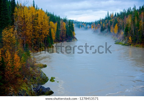The Nass River as it crosses the Stewart Cassiar Highway in northern British Columbia.