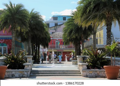 Nassau, Bahamas Dec. 12, 2018 - Pompey Square is site where slaves were unloaded from ships in 19th century. Named after slave who, in 1830, led a revolt which lead to Emancipation Proclamation.