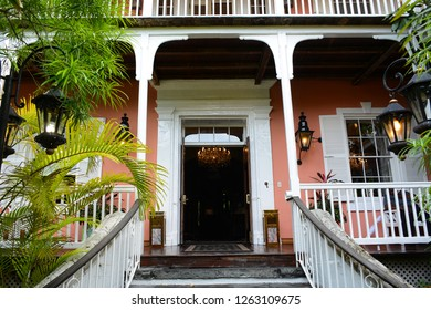 Nassau, Bahamas - MAY 1, 2018: Graycliff hotel and restaurant in Downtown of Nassau