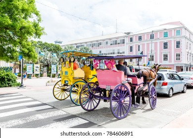 NASSAU, BAHAMAS - May 12, 2014: Nassau is the capital of the Bahamas and the center of tourism. Nassau sees thousands of visitors daily, the majority of which arrive by cruise ship.