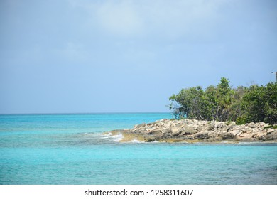 NASSAU, BAHAMAS - MAY 3, 2018: Beautiful beach in historic Clifton Heritage National Park