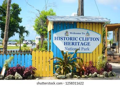 NASSAU, BAHAMAS - MAY 3, 2018: Historic Clifton Heritage National Park