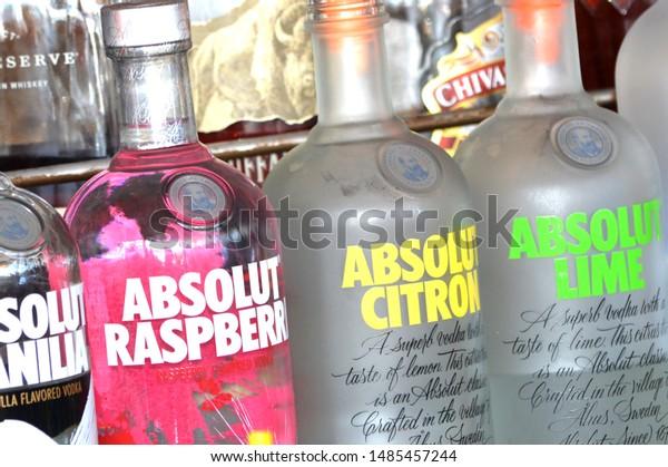 Nassau Bahamasusa August 112019 Absolut Vodka Stock Photo
