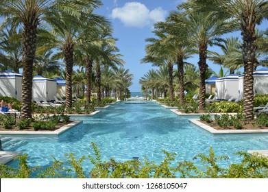 Nassau Bahamas/USA August 24,2017:  Baha-Mar Luxury Resort Hotel and Casino in Nassau, Bahamas.