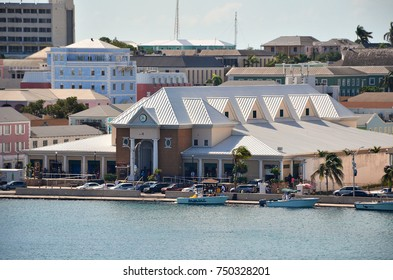 Nassau Straw Market, Nassau, Bahamas- September 22, 2017: After a fire in 2001 it has been rebuilt. The place attracts tourists in search of local handicrafts