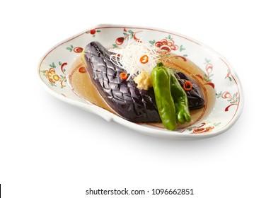 Nasu no Age Bitashi(deep-fried eggplant in Japanese broth)