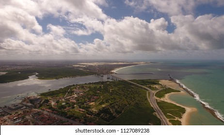 Natal / Rio Grande do Norte / Brazil - Circa June 2018: Aerial image of the city Natal city, RN / Northeast of the Brazil.