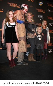 Natalie Alyn Lind, Barbara Alyn Woods, Alyvia Lind and Emily Alyn Lind  at the 8th Annual LA Haunted Hayride Premiere Night, Griffith Park, Los Angeles, CA 10-10-13