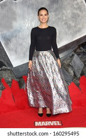 """Natalie Portman arriving for the world premiere of """"Thor: The Dark World"""" at the Odeon Leicester Square, London. 22/10/2013"""