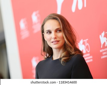 Natalie Portman attends 'Vox Lux' photocall during the 75th Venice Film Festival on September 4, 2018 in Venice, Italy.